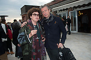 CHANTAL CROUSEL; JEROME SANS, Absolut Art Bureau cocktails and dinner to celebrate the announcement of the 2013 Absolut Art Award shortlist. Bauer Hotel, San Marco. Venice. Venice Bienalle. 28 May 2013