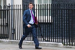 Downing Street, London, October 25th 2016. Secretary of State for Business, Energy and Industrial Strategy Greg Clark arrives at 10 Downing Street for the weekly cabinet following a Heathrow Third Runway Sub-Committee meeting at the same venue.