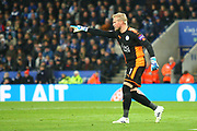 Leicester City Goalkeeper Kasper Schmeichel (1) during the Premier League match between Leicester City and Manchester City at the King Power Stadium, Leicester, England on 18 November 2017. Photo by John Potts.