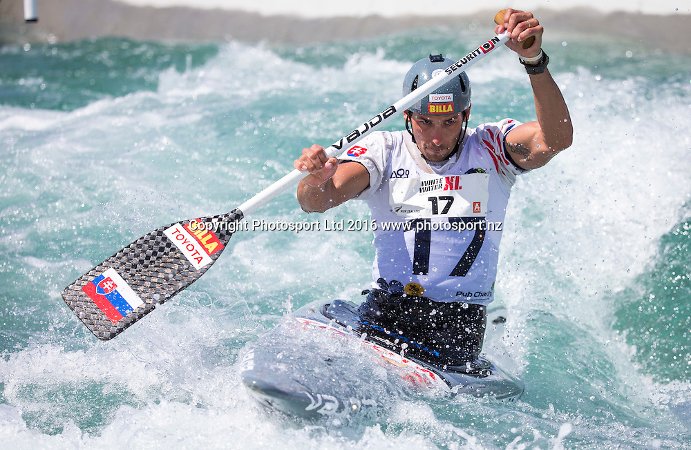 Matej Benus competes, WhitewaterXL, Vector Wero Whitewater Park,  Auckland, New Zealand. Thursday 24 November 2016. © Copyright Photo: www.Photosport.nz