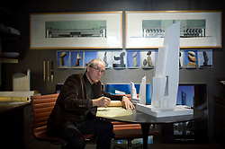 Fri Nov 18, 2011:  Portrait of Bill Pedersen, the architect of the Hudson Yards project, in his studios at Kohn Pedersen Fox. Credit: Rob Bennett for The Wall Street Journal   Slug: NYSPACES