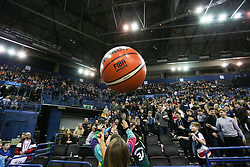 Large inflatable Molten Ball in the crowd - Photo mandatory by-line: Arron Gent/JMP - 26/01/2020 - BASKETBALL - Arena Birmingham - Birmingham, England - Bristol Flyers v Worcester Wolves - British Basketball League Cup Final