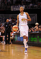 Aug 20, 2010; Phoenix, AZ, USA; Phoenix Mercury guard DeWanna Bonner (24) dribbles the ball down the court against the Seattle Storm at US Airways Center. The Storm defeated the Mercury 78-73.  Mandatory Credit: Jennifer Stewart-US PRESSWIRE