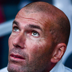 Real Madrid coach Zinedine Zidane during the International Champions Cup match between Barcelona and Real Madrid at Hard Rock Stadium on July 29, 2017 in Miami Gardens, Florida. (Photo by Dave Winter/Icon Sport)