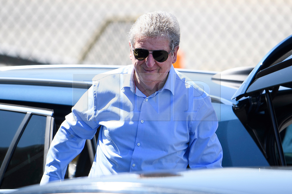 © Licensed to London News Pictures. 06/06/2016. Luton, UK. England manager ROY HODGSON arrives at the airport, before Members of England national football squad board a plane at Luton airport in Bedfordshire, England, to head for their training camp in France, ahead of the start of the UEFA Euro 2016 championships.  Photo credit: Ben Cawthra/LNP