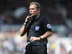 Referee Graham Scott,  Derby County, Derby County v Brentford, Sky Bet Championship, IPro Stadium, Saturday 11th April 2015. Score 1-1,  (Bent 92) (Pritchard 28)<br /> Att 30,050