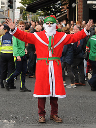 Hardly Santa&hellip;. Mayo supporter Eamon Coll from Castlebar at the All Ireland final replay.<br />