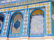 details of the wall decoration on Dome of the rock, Jerusalem, Israel