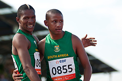 SEKAILWE Union, BUIS Dyan, RSA, 400m, T38, 2013 IPC Athletics World Championships, Lyon, France