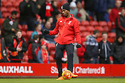 Liverpool forward Daniel Sturridge  during the Barclays Premier League match between Liverpool and Sunderland at Anfield, Liverpool, England on 6 February 2016. Photo by Simon Davies.