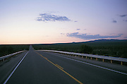 view of open road at dusk/dawn