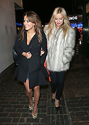 06.FEBRUARY.2013. LONDON<br /> <br /> CAROLINE FLACK AND LAURA WHITMORE LEAVING THE BOX CLUB IN SOHO, LONDON<br /> <br /> BYLINE: EDBIMAGEARCHIVE.CO.UK<br /> <br /> *THIS IMAGE IS STRICTLY FOR UK NEWSPAPERS AND MAGAZINES ONLY*<br /> *FOR WORLD WIDE SALES AND WEB USE PLEASE CONTACT EDBIMAGEARCHIVE - 0208 954 5968*