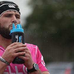 DURBAN, SOUTH AFRICA - MAY 15: Ruan Botha of the Cell C Sharks during the Cell C Sharks training session at Jonsson Kings Park on May 15, 2018 in Durban, South Africa. (Photo by Steve Haag/Gallo Images)