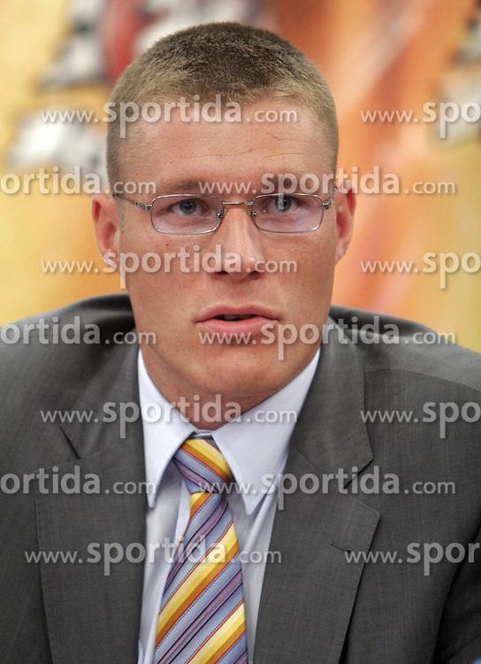 Andrej Lah at press conference of KK Union Olimpija before new season 2005/2006, on August 9, 2005, Pivovarna Union, Ljubljana, Slovenia.  (Photo by Vid Ponikvar / Sportida)