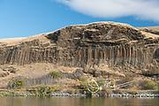 Basalt column formations along Hells Canyon.