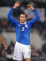 Fussball International, Nationalmannschaft   EURO 2012 Play Off, Qualifikation, Italien - Uruguay      15.11.2011 Giorgio Chiellini (Italien)