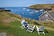 Picturesque overlook; Vacation trip to Monhegan Island
