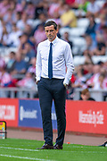 Sunderland AFC manager, Jack Ross during the EFL Sky Bet League 1 match between Sunderland and AFC Wimbledon at the Stadium Of Light, Sunderland, England on 24 August 2019.