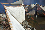 Elver net on the Union River, Maine