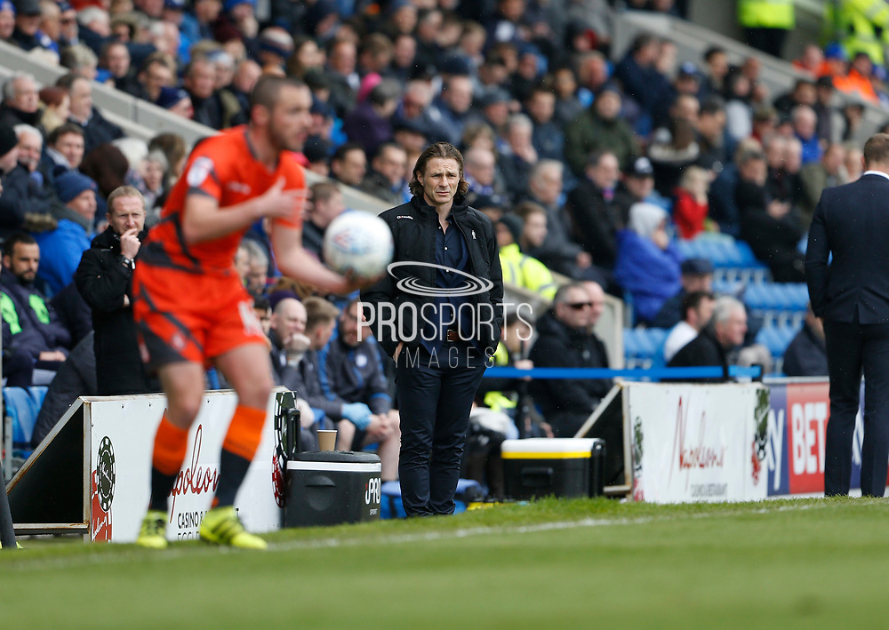 Wycombe Wanderers manager Gareth Ainsworth during the EFL Sky Bet League 2 match between Chesterfield and Wycombe Wanderers at the b2net stadium, Chesterfield, England on 28 April 2018. Picture by Paul Thompson.