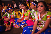 Dancers wait for awards to be announced during the ICC Youthsava 2016 Dance Competition at the India Community Center in Milpitas, California, on April 9, 2016. (Stan Olszewski/SOSKIphoto)