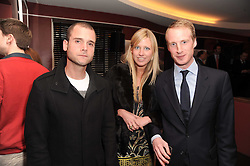 A party to promote the exclusive Puntacana Resort & Club - the Caribbean's Premier Golf & Beach Resort Destination, was held at The Groucho Club, 45 Dean Street London on 12th May 2010.<br /> <br /> Picture shows:-Left to right, LYONEL TOLLEMACHE, DAISY BIRD and DAN KINDER
