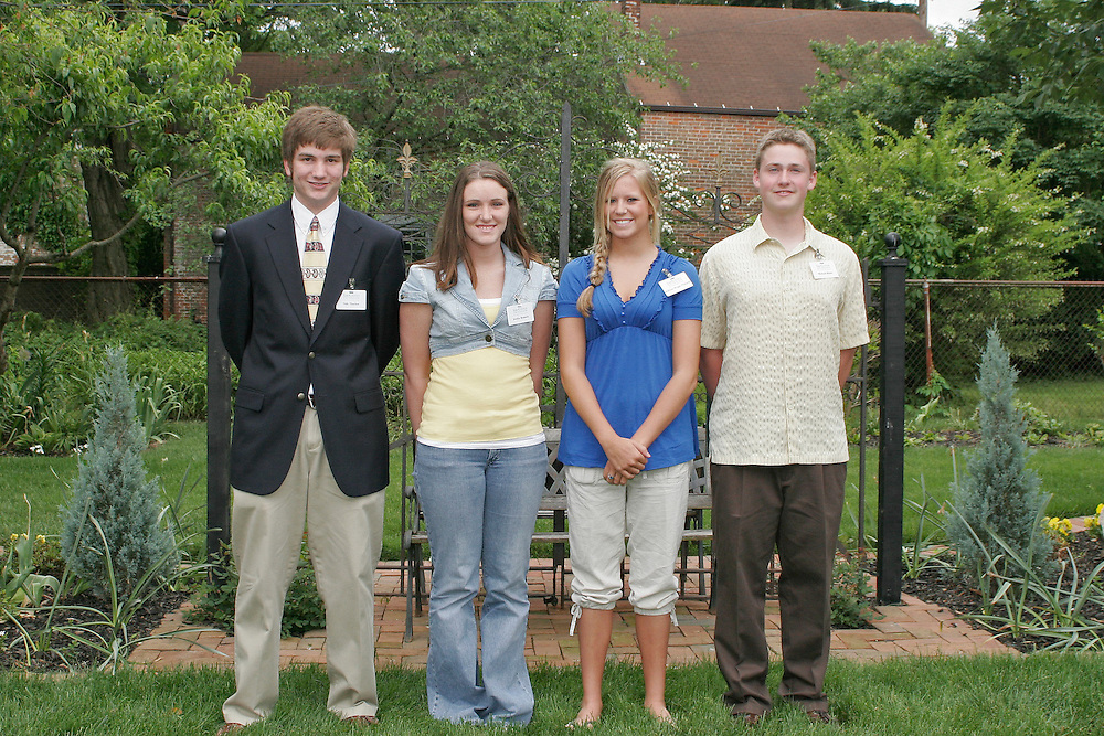 Photo B. .New Gates Foundation-Ross County Scholarship recipients include (from left) Dale Thacker, Jessica Bennett, Madison Wright-Piekarski and Michael Mears.. .Contact: Ohio University-Chillicothe Coordinator of Communications Jack Jeffery, (740) 707-1368. ..            Fourth Class of The Gates Foundation-Ross County Scholar?s Fund.Recipients Prepare to Follow Their Dreams and Aspirations. ..CHILLICOTHE, Ohio ? This year?s recipients of The Gates Foundation-Ross County Scholar?s Fund were announced today, May 16, during a ceremony at the Atwood House in Chillicothe.. .Eighteen Ross County students received scholarships this year, including 13 continuing scholars who have already embarked on their college careers and five students who will graduate from high school this spring.. .Jessica Ford, a fourth-year recipient of the scholarship, is heading into her senior year at Ohio University?s Athens campus and said she is incredibly thankful for the Gates? support.. .?It?s amazing to see this kind of generosity continue for the duration of my college years,? she said. ?I think it really speaks to their character. It?s neat to be a part of the Gates? first graduating class of scholarship recipients.?. .In 2004, Chillicothe native Larry A. Gates and his wife, Mary, established the scholarship fund to pave the way to a college education for students graduating from Ross County high schools. This is the fourth class to benefit from the scholarship fund, which will eventually total approximately $10 million.. .?Our decision to support scholarships is driven by a strong belief in young people and a deep belief in the power of education and learning,? Gates said.. .As a former senior vice president of human resources and administration for Philip Morris Companies, Gates traveled the globe, managing worldwide human resources for the multinational corporations.. .Although they gained an array of worldly experiences, Mary and Larry Gates never lost their perspective.. .?Living