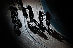 February 10, 2019 - Melbourne, VIC, U.S. - MELBOURNE, VIC - FEBRUARY 08: Riders are seen racing in the men's elite Madison at The Six Day Cycling Series on February 08, 2019 at Melbourne Arena, VIC. (Photo by Speed Media/Icon Sportswire) (Credit Image: © Speed Media/Icon SMI via ZUMA Press)