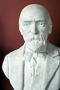 Bust of famous painter Paul Cezanne in Granet museum in Aix-en-Provence, France