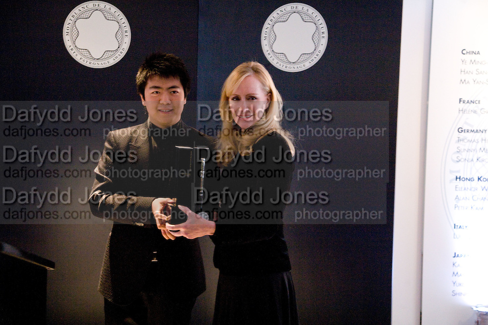 Lang Lang and Louise T Blouin , The Mont Blanc de la Couture award at the Louise T Blouin Institute. Olaf St. London. 16 April 2008.  *** Local Caption *** -DO NOT ARCHIVE-© Copyright Photograph by Dafydd Jones. 248 Clapham Rd. London SW9 0PZ. Tel 0207 820 0771. www.dafjones.com.