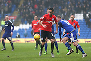 Sam Baldock during the Sky Bet Championship match between Cardiff City and Brighton and Hove Albion at the Cardiff City Stadium, Cardiff, Wales on 20 February 2016.