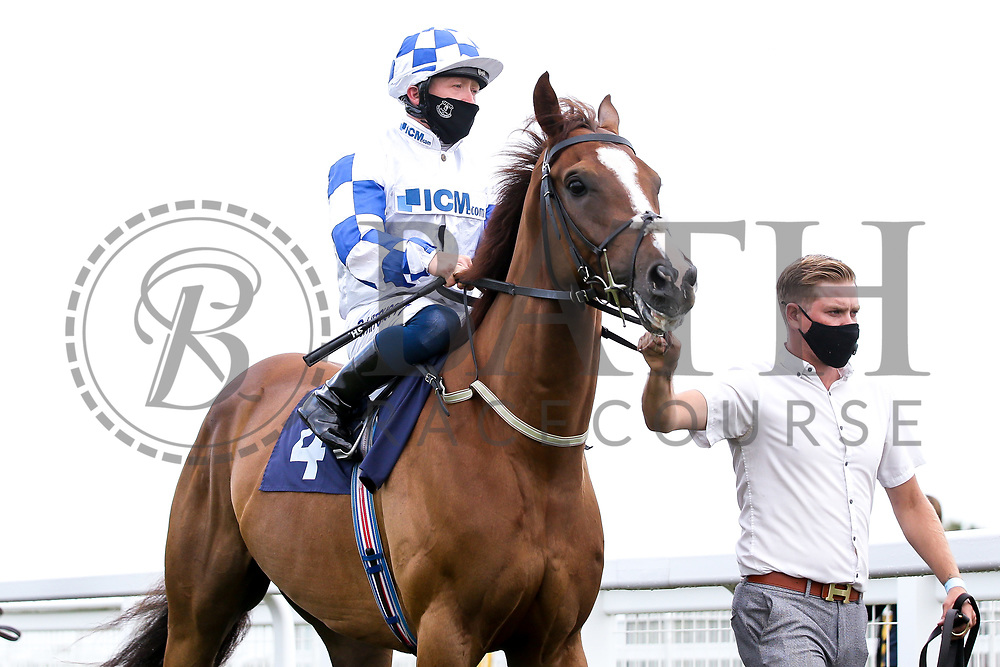 Global Agreement ridden by Sam Hitchcott and trained by Milton Harris - Mandatory by-line: Robbie Stephenson/JMP - 18/07/2020 - HORSE RACING- Bath Racecourse - Bath, England - Bath Races 18/07/20