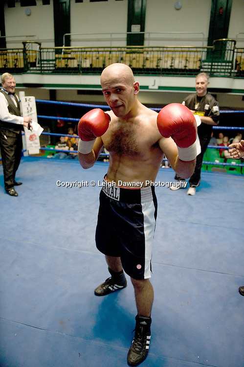 Jamal Morrison celebrates after beating Duncan Cottier at York Hall 4th October 2009. Promoted by David Coldwell,Hayemaker Promotions Credit: ©Leigh Dawney Photography