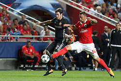 September 12, 2017 - Lisbon, Portugal - Benfica's Suisse forward Haris Seferovic fights for the ball with CSKA's defender Mario Fernandes (R ) during UEFA Champions League football match SL Benfica vs CSKA Moscow at the Luz stadium in Lisbon, Portugal on September 12, 2017. Photo: Pedro Fiuza  (Credit Image: © Pedro Fiuza/NurPhoto via ZUMA Press)