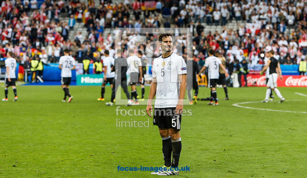 Mats Hummels of Germany during the UEFA Euro 2016 match at Stade de France, Paris, France.<br /> Picture by EXPA Pictures/Focus Images Ltd 07814482222<br /> 16/06/2016<br /> *** UK &amp; IRELAND ONLY ***<br /> EXPA-FEI-160616-5324.jpg