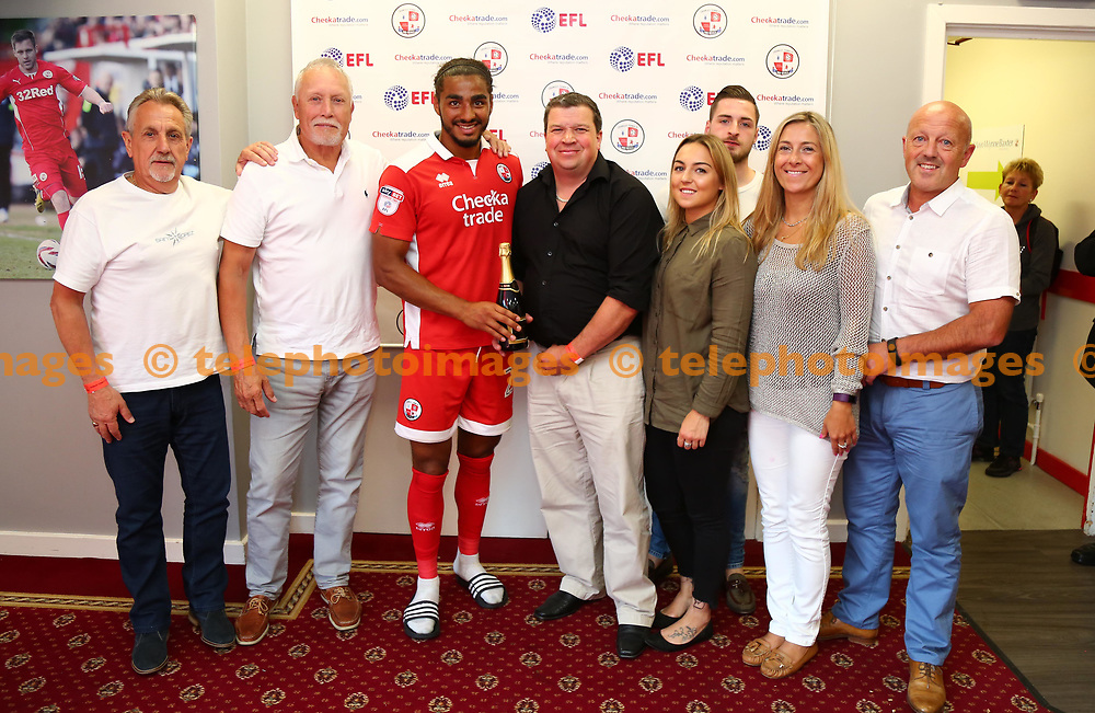 Man of the match Josh Lelan during the Sky Bet League 2 match between Crawley Town and Cambridge United at the Checkatrade Stadium in Crawley. 19 Aug 2017