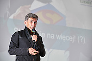 WARSAW, POLAND - APRIL 23: Robert Korzeniowski - a project leader for Sports Medicine and Active / LUX MED Group speaks during science conference The Day of Sport at National Library on April 23, 2016 in Warsaw, Poland.<br /> <br /> Picture also available in RAW (NEF) or TIFF format on special request.<br /> <br /> Any editorial, commercial or promotional use requires written permission from the author of image.<br /> <br /> Adam Nurkiewicz declares that he has no rights to the image of people at the photographs of his authorship.<br /> <br /> Mandatory credit:<br /> Photo by © Adam Nurkiewicz / Mediasport