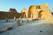 The south Church, Shivta (Sobota) is an archeological site in the Negev Desert of Israel. Long considered a classic Nabataean town and terminal on the ancient spice route, archeologists are now considering the possibility that the town was actually a Byzantine agricultural colony and a way station for pilgrims en route to the Santa Catarina, Egypt, located on the supposed site of Mount Sinai. The new assessment of Shivta is based on an analysis of the irrigation system found at the site, which bears parallels to Byzantine structures elsewhere. Until now, the preponderance of Byzantine ruins were believed to be the remains of a monastic community that established itself on the ruins of an earlier Nabatean town. Shivta was declared a world heritage site by UNESCO on June 2005.