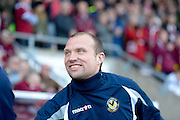 Warren Feeney during the Sky Bet League 2 match between Northampton Town and Newport County at Sixfields Stadium, Northampton, England on 25 March 2016. Photo by Dennis Goodwin.