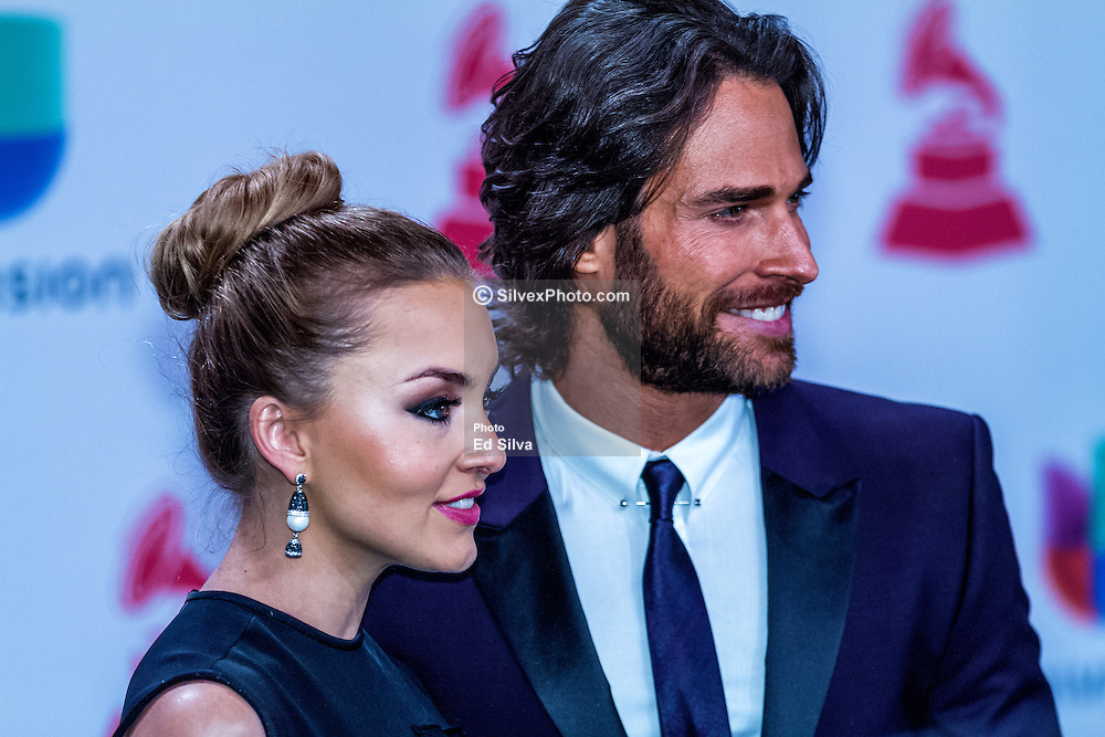 LAS VEGAS, NV - NOV 20 Angelique Boyer and Sebastian Rullia rrive at the 2014 Annual Latin Grammy Awards on November 20, 2014 in Las Vegas, Nevada. Byline, credit, TV usage, web usage or linkback must read SILVEXPHOTO.COM. Failure to byline correctly will incur double the agreed fee. Tel: +1 714 504 6870.