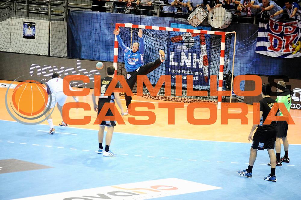 DESCRIZIONE : France Hand D1 Coupe de la Ligue Finale a Toulouse<br /> GIOCATORE : Vincent GERARD<br /> SQUADRA : Dunkerque<br /> EVENTO : Hand D1 Coupe de la Ligue <br /> GARA : Nantes Dunkerque<br /> DATA : 09/12/2012<br /> CATEGORIA : Hand D1 <br /> SPORT : Handball<br /> AUTORE : JF Molliere <br /> Galleria : France Hand 2012-2013 Action<br /> Fotonotizia : Hand D1 Coupe de la Ligue Finale a Toulouse<br /> Predefinita :