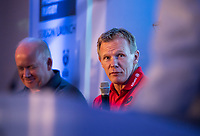 Football - 2019 / 2020 Gallagher Premiership Rugby - New Season Launch Media Photocall<br /> <br /> Saracens' Director of Rugby Mark McCall being interviewed by Craig Doyle, at Twickenham.<br /> <br /> COLORSPORT/ASHLEY WESTERN