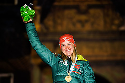 March 10, 2019 - –Stersund, Sweden - 190310 Denise Herrmann of Germany celebrates her first place at the medal ceremony for the Women's 10 km Pursuit during the IBU World Championships Biathlon on March 10, 2019 in Östersund..Photo: Petter Arvidson / BILDBYRÃ…N / kod PA / 92256 (Credit Image: © Petter Arvidson/Bildbyran via ZUMA Press)