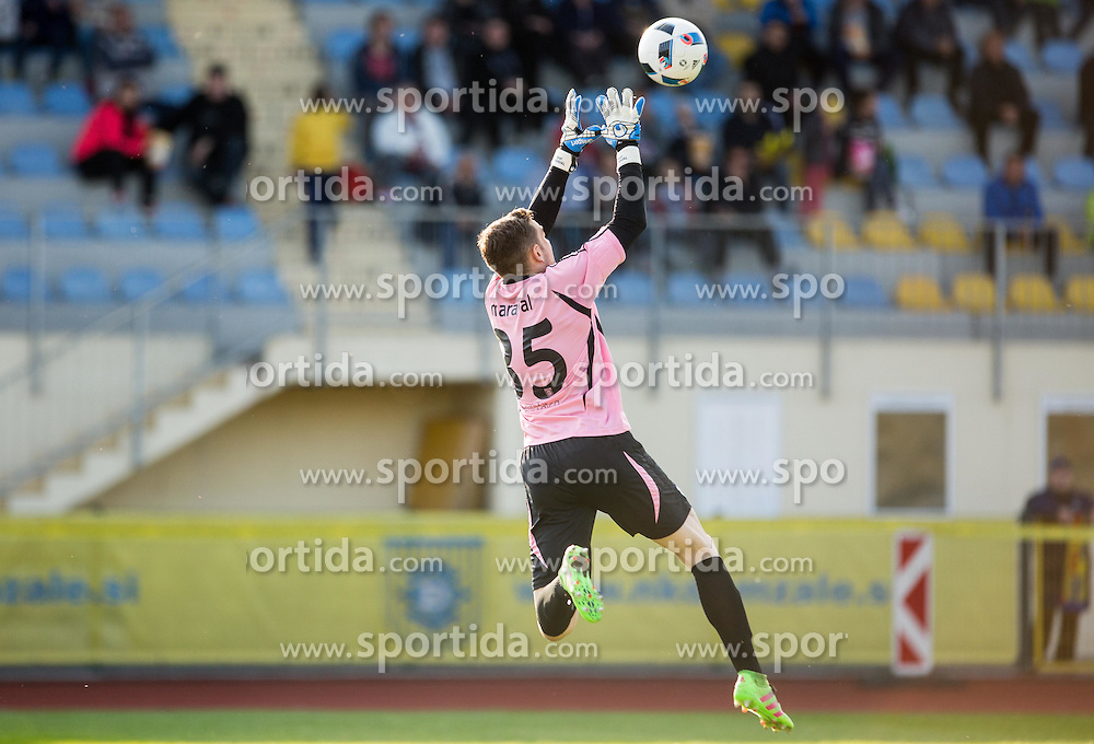 Axel Maraval #35 of NK Domzale during 2nd Leg football match between NK Domzale and NK Celje in Semifinal of Slovenian Cup 2015/16, on April 20, 2016 in Sports park Domzale, Slovenia. Photo by Vid Ponikvar / Sportida