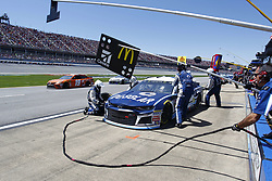 April 29, 2018 - Talladega, Alabama, United States of America - Jamie McMurray (1) comes down pit road for service during the GEICO 500 at Talladega Superspeedway in Talladega, Alabama. (Credit Image: © Justin R. Noe Asp Inc/ASP via ZUMA Wire)