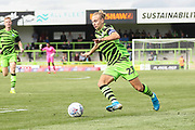 Forest Green Rovers Joseph Mills(23) runs forward during the EFL Sky Bet League 2 match between Forest Green Rovers and Grimsby Town FC at the New Lawn, Forest Green, United Kingdom on 17 August 2019.