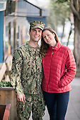 Young Military Couple Navy/Army/Student