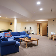 CHERRY HILL, NJ - DECEMBER 23, 2016: The finished basement has a pool table, sauna, powder room and a storage room. 9 Gwen Court, Cherry Hill, NJ. Credit: Albert Yee for the New York Times