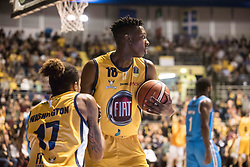 November 12, 2017 - Turin, Piemonte/Torino, Italy - David Okeke (Fiat Torino Auxilium) during the Basketball match, Serie A: Fiat Torino Auxilium vs Vanoli Cremona. Torino wins 88-80 at Pala Ruffini in Turin 12th november 2017 Photo by Alberto Gandolfo/Pacific Press) (Credit Image: © Alberto Gandolfo/Pacific Press via ZUMA Wire)