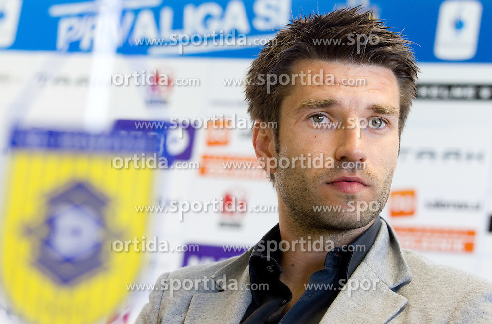 Luka Elsner of Slovenia when decided to finish his football career and become assistant coach of NK Domzale, on April 1, 2012, in Domzale, Slovenia. (Photo by Vid Ponikvar / Sportida.com)